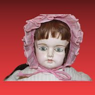 "Large 30"" tall German Papier Mache Antique doll! Gorgeous face!"