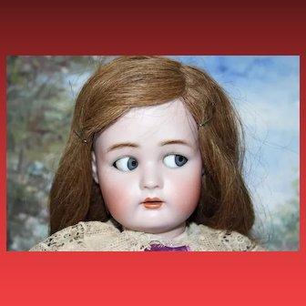 "Beautiful and rare Flirty eyed mechanism Simon & Halbig, Kammer Reinhardt doll!, 21 1/2"" tall Doll,  Sweet Face!"
