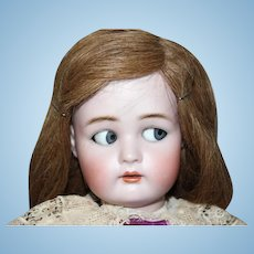 "Beautiful and rare Flirty eyed mechanism Simon & Halbig, Kammer Reinhardt doll!, 21 1/2"" tall Doll,  Sweet Face!"