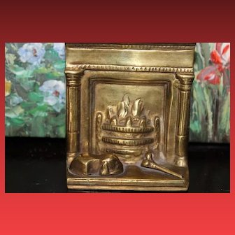 Solid Brass Metal English Doll House furniture, Faux Fireplace for your Doll House!