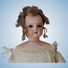"""New Pictures!!!! on this Jumeau French Fashion Doll with  Original mohair wig and cork pate, 19"""" tall. No hairlines."""