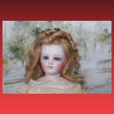 "French Antique Bru, Barrois or Jumeau doll, kid body, beautiful bisque head , ""Paris Boutique Les Paradis di Enfants!"""