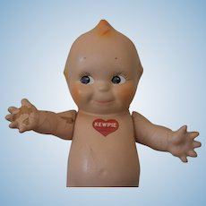 Vintage Composition Kewpie Doll, marked on chest, Crazing on body and arms, see pictures!