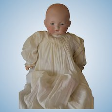 """Big Beautiful Large German  Bisque Headed Dream Baby with new replaced body! 21"""" tall in size!"""