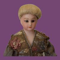 """7"""" tall Simon & Halbig 1160 bisque lady doll German antique doll!"""