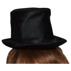 Black silk Boy, Man doll hat!