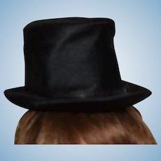 Black silk Boy, Man doll hat!
