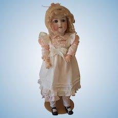 """German bisque head Doll, Jutta #1348, 21"""" tall."""