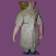 "Nice doll dress, French cotton  style for a 18"" tall doll!"