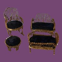 Navy Blue Doll House furniture,  4 pieces only!