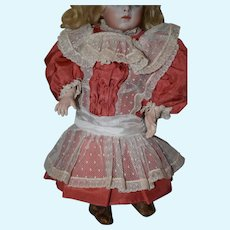 Salmon pink doll silk dress!