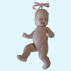 German all bisque 2 faced baby girl doll!