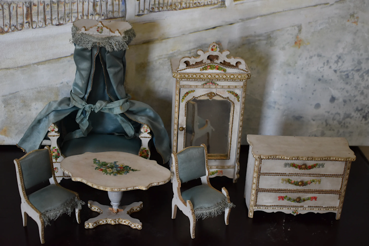 French Antique Gottschalk Doll House Furniture Set Teri Foley S Antique Dolls Ruby Lane