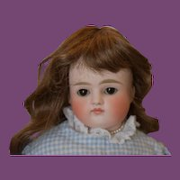 "Turned head, closed mouth Kestner doll, 17"" tall!"