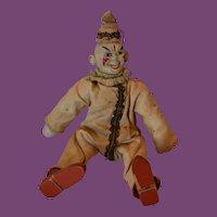 Schoenhut Clown, original costume  and hat.