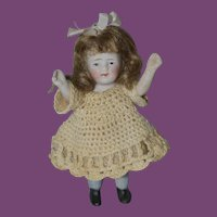 """4 1/2"""" tall All bisque Doll"""