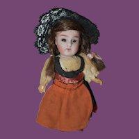 """4 1/2"""" bisque head German Doll"""