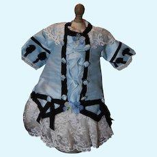 Doll dress, hand Sewn,  Needs work!