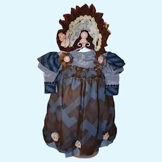 Doll Dress rayon or silk fabric
