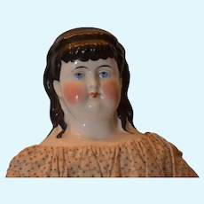 China head doll with molded long curls!