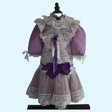 French lavender Doll Dress, Rayon