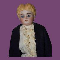 """Male Boy or Man Parian Doll, 15"""" tall!!"""