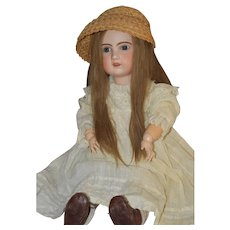 """Large 30"""" open mouth Jumeau Doll, Antique"""