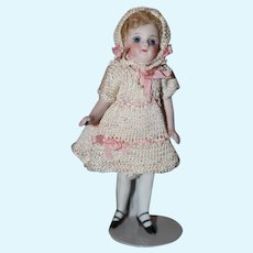 All bisque Doll, 2 strap shoes.