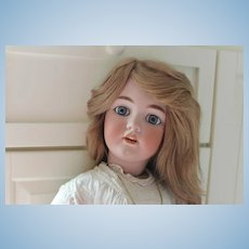 "32"" Simon & Halbig German Antique doll! Santa Mold. #1249 Blue eyes that sleep. No hairlines or repairs. Cotton old dress, pantaloons, & slip, leather shoes."