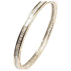 18-Karat Yellow Gold Slip-on Diamond Bangle Bracelet