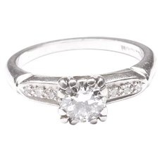 Diamond Engagement Ring in Palladium, c. 1940