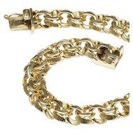 Classic Heavy Double Curb Link Charm Bracelet, c. 1960s