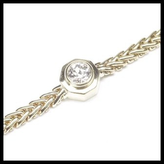 14-Karat Yellow Gold Diamond Bracelet, c. 1980s