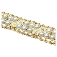 Stylish Cultured Pearl Bracelet by Honora, C. 1970s