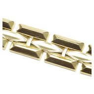 Stylish 14-Karat Yellow Gold Italian Link Bracelet, C. 1980