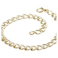 Simple Curb Link Charm Bracelet in 14-Karat Yellow Gold