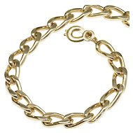 Simple Heavy Curb Link Bracelet