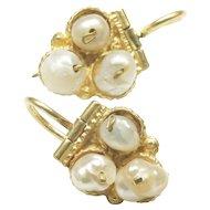 18-Karat Yellow Gold Freshwater Pearl Earrings
