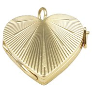 14-Karat Yellow Gold Heart-Shaped Locket