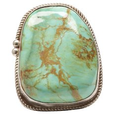 Native American Ring with Large Turquoise