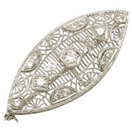 Navette-Shaped Diamond Pin, c. 1920