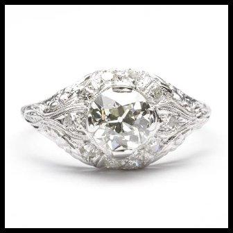 C. 1920 Edwardian Diamond Engagement Ring