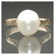 Natural Freshwater Pearl Ring, c. 1940s
