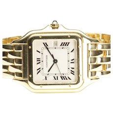 18-Karat Yellow Gold Cartier Panthere Quart Wrist Watch