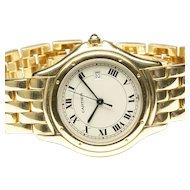 18K Yellow Gold Cartier Cougar Quartz Wrist Watch