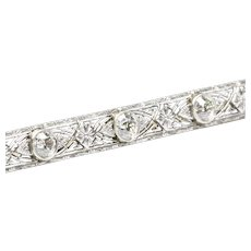 Elegant Edwardian Diamond Bar Pin, by Krementz