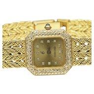 Women's 18-Karat Yellow Gold Concord Quartz Wrist Watch, C.. 1980
