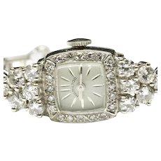 14-Karat White Gold Hamilton Diamond Wrist Watch