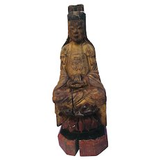 Hand carved Wooden Chinese Ancestor figure