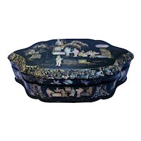Chinese lacquer and abalone jewelbox